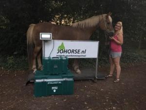 De paardenweeg meter van johorse paardenweegschaal